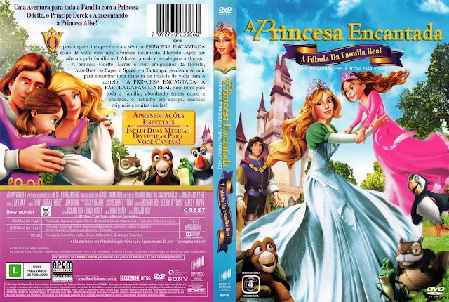 Capa DVD A Princesa Encantada A Fábula da Família Real