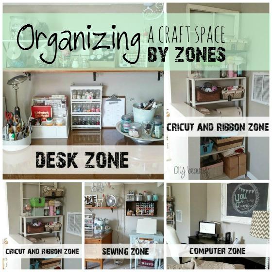 organize by zones www.diybeautify.com