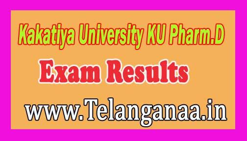 Kakatiya University KU Pharm.D 1st/2nd/3rd Year Exams Results Download