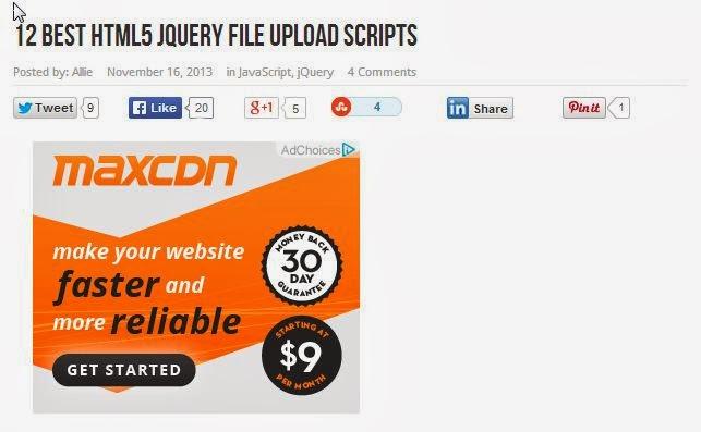 12 HTML5+Jquery Example Uploader Script