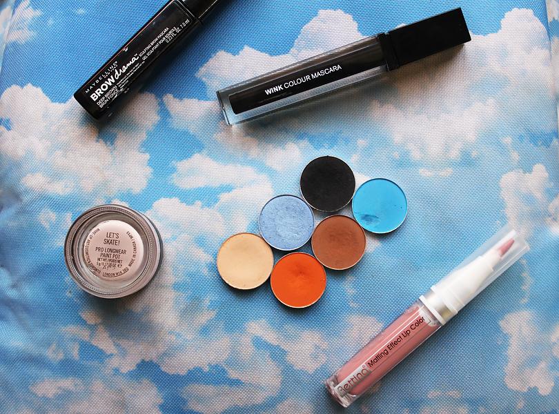 blue orange brown metallic smokey eye mac moon's reflection eyeshadow electric eel makeup look tutorial