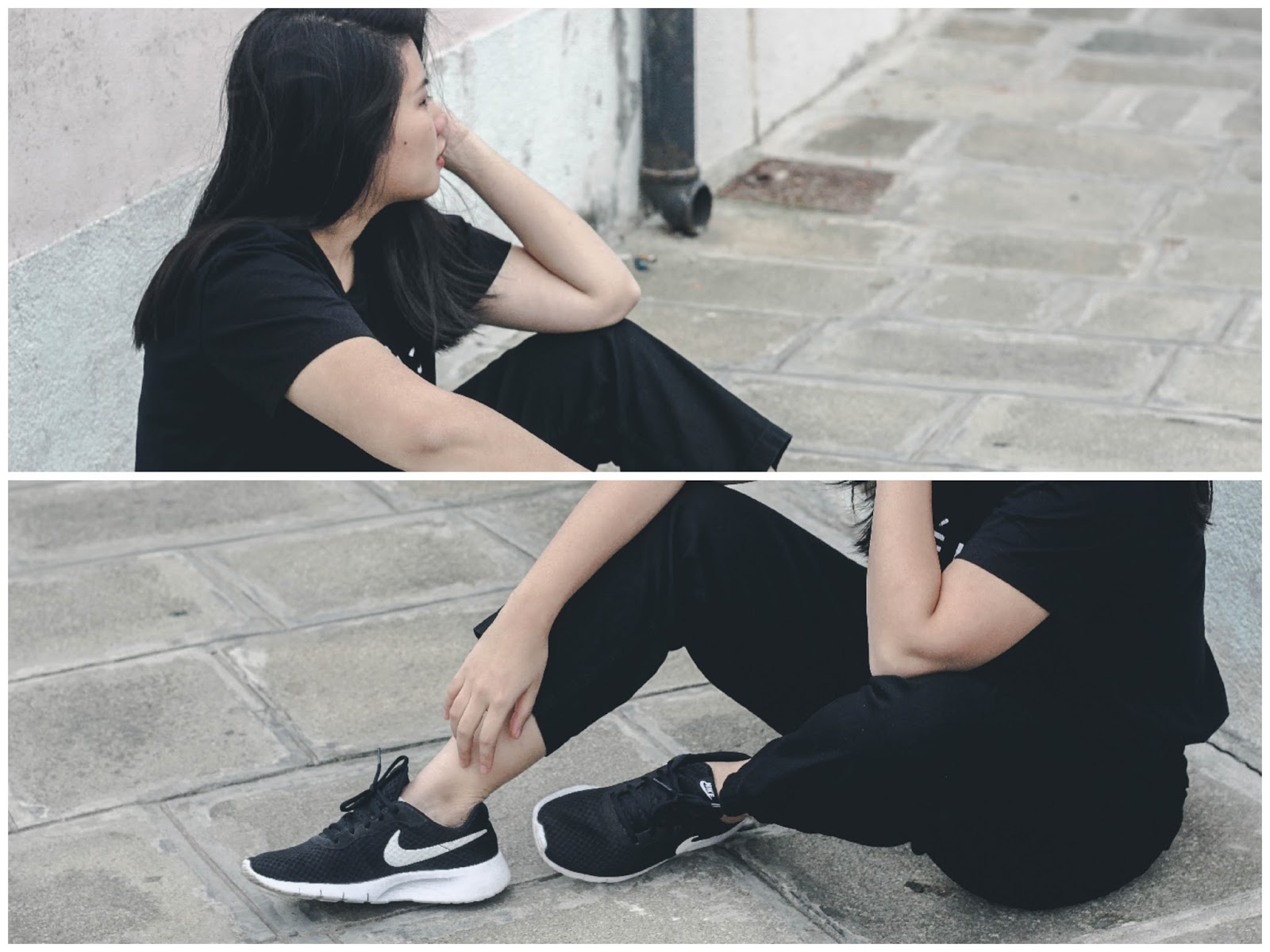 singapore blogger stylist nike street wear look book monotone fashion life style travel photography