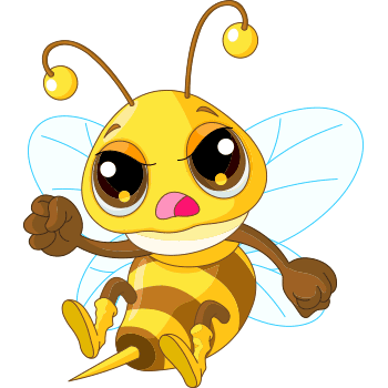 Angry bee emoji