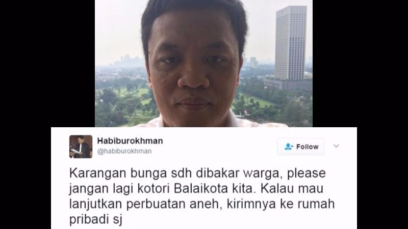 Habiburokhman meminta jangan ada lagi karangan bunga di Balai Kota