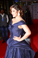 Payal Ghosh aka Harika in Dark Blue Deep Neck Sleeveless Gown at 64th Jio Filmfare Awards South 2017 ~  Exclusive 027.JPG