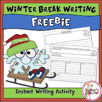 Winter Break Writing Freebie