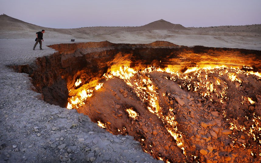 Darvaza Gates Of Hell in the Karakum Desert, Turkmenistan