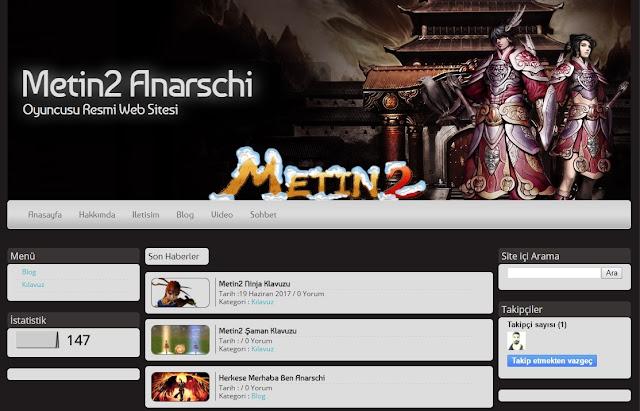 Metin2 Blogger Anarschi Teması İndir