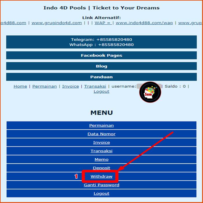 Panduan Withdraw Indo4DPools