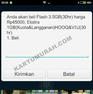 Paket Flash Terjangkau 3.5GB 45 Ribu Telkomsel 2017
