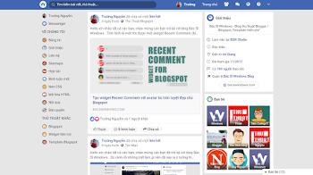 Giới thiệu Theme mới giống Facebook dành cho Blogspot