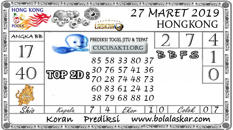 Prediksi Togel HONGKONG LASKAR4D 27 MARET 2019