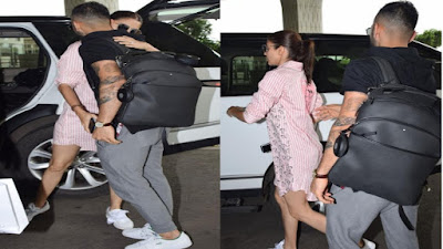 बिना पैंट पहले अनुष्का ने अपने पति को एयरपोर्ट गयी छोड़ने, लोगो ने कहा...