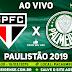 Jogo São Paulo x Palmeiras Ao Vivo 16/03/2019