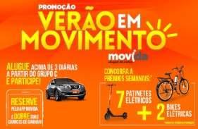 Cadastrar Promoção Movida Verão em Movimento - Bicicletas e Patinetes Elétricos
