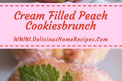 Cream Filled Peach Cookies #christmas #cookies