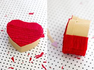 Caja de corazón decorada para este San Valentín