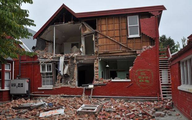 Earthquake repairs in Christchurch