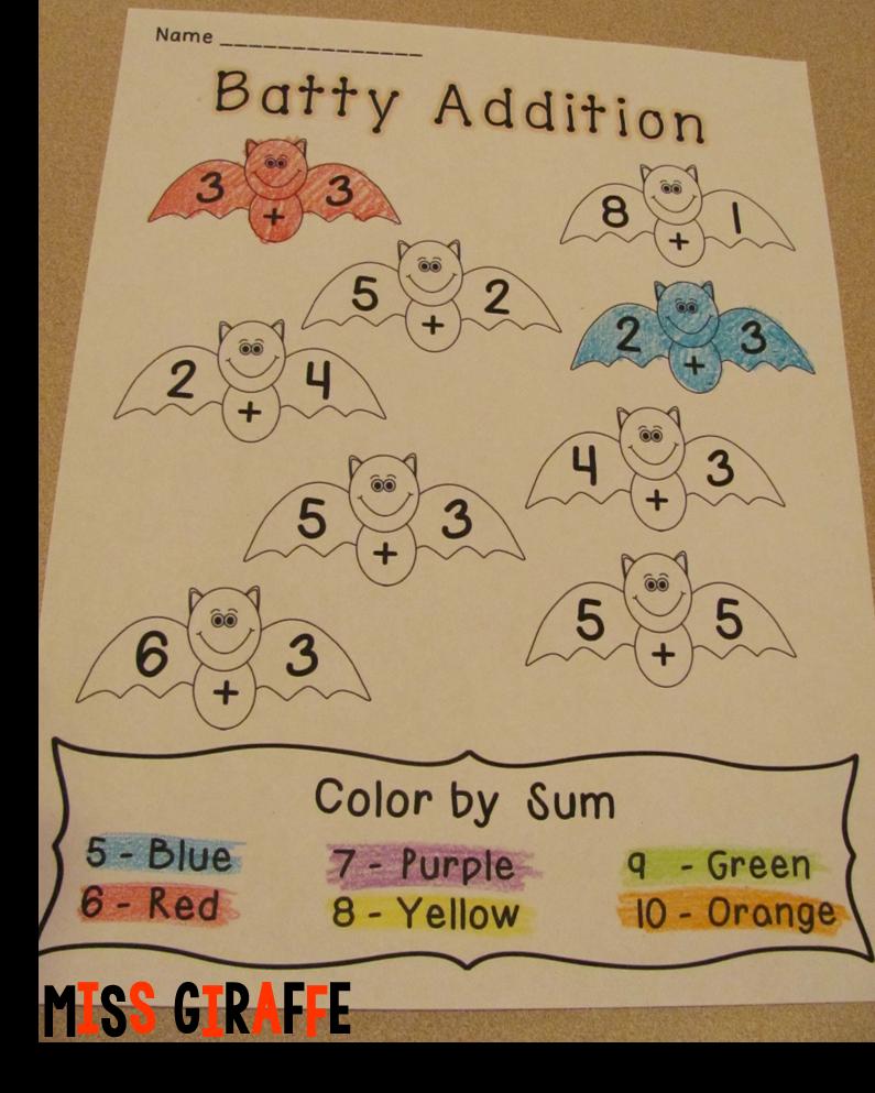 Miss Giraffe's Class: Halloween Math Ideas [ 993 x 795 Pixel ]