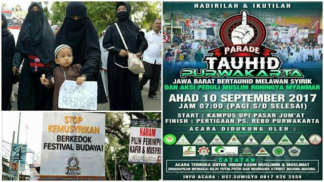 "Parade ""Jawa Barat Bertauhid Peduli Muslim Rohingya dan Anti Syirik"" Dihadiri Ribuan Orang"
