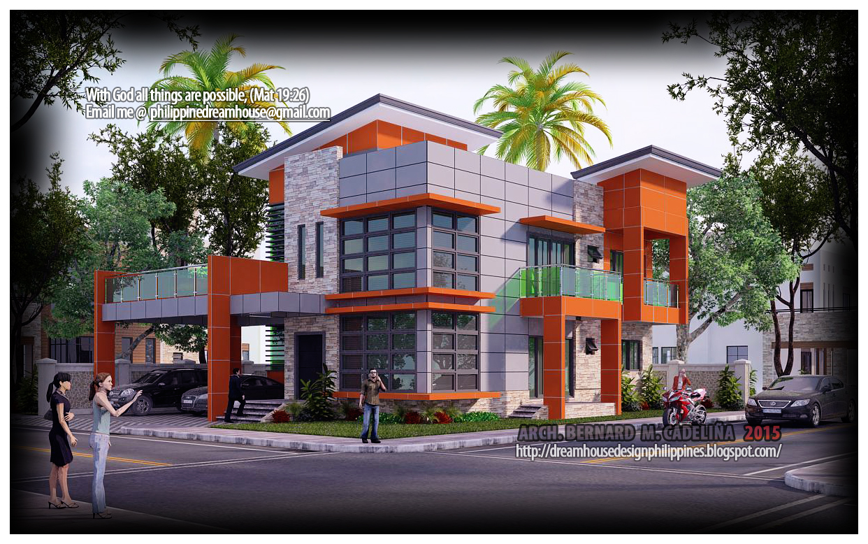 Philippine dream house design four bedroom two storey house for House design philippines 2 storey