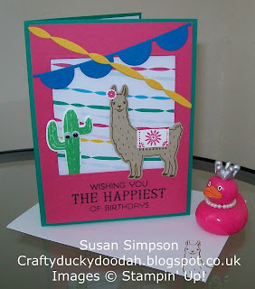 Stampin' Up! Susan Simpson Independent Stampin' Up! Demonstrator, Craftyduckydoodah!, Designer Tin of Cards, Supplies available 24/7, Birthday Fiesta, Touches of Texture,