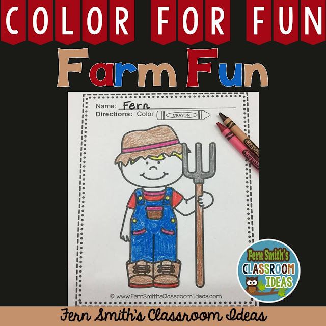 FERN'S FREEBIE FRIDAY ~ FREE COLOR FOR FUN FARM COLORING PAGE ~ CLICK HERE!