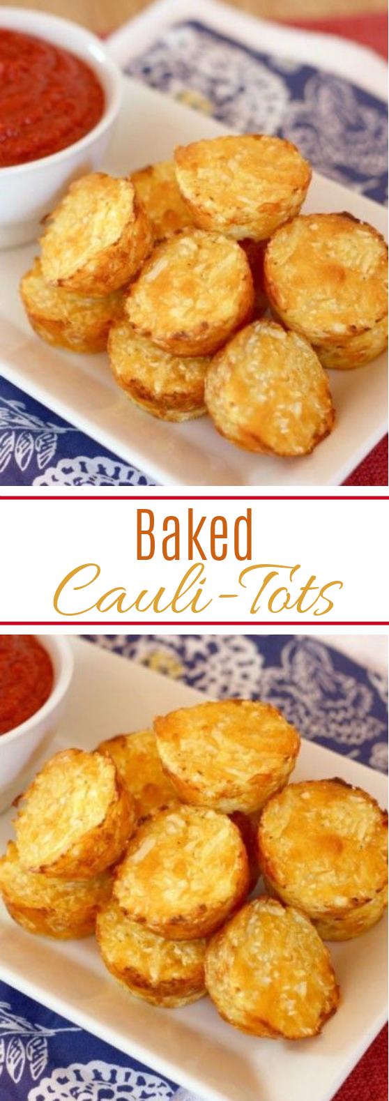 Baked Cauli-Tots #cauliflower #vegetarian