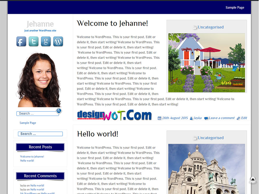 Jahanne wordpress Responsive Theme
