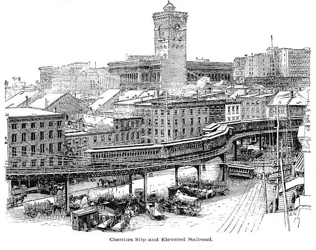 1888 New York City, an illustration of Coenties Slip