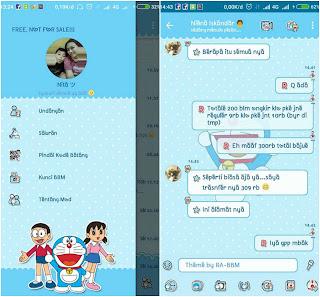 BBM Mod Doraemon Versi 3.3.3.39 Apk