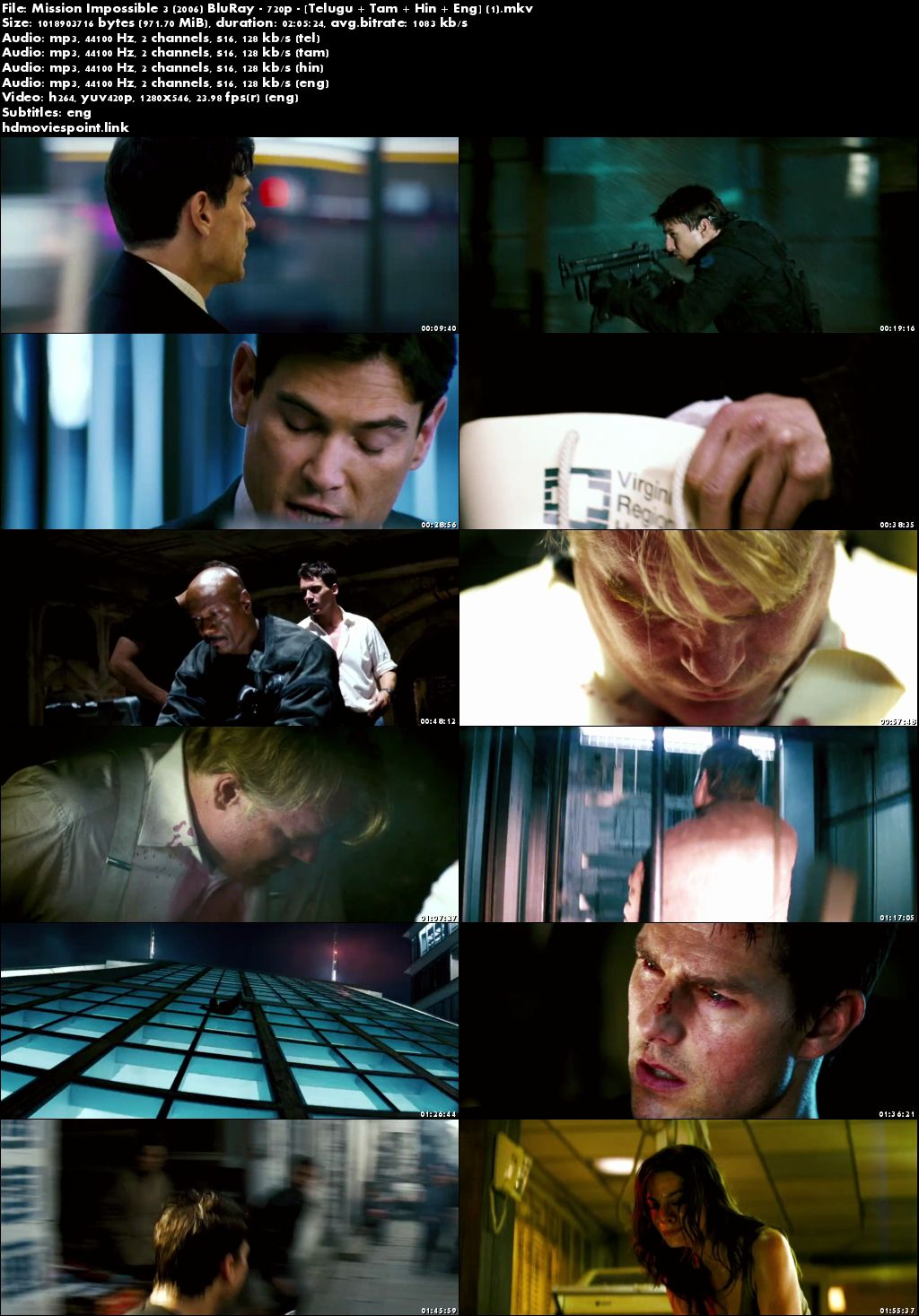 screen shot Mission Impossible III 2006 Full Movie Download Dual Audio 720p