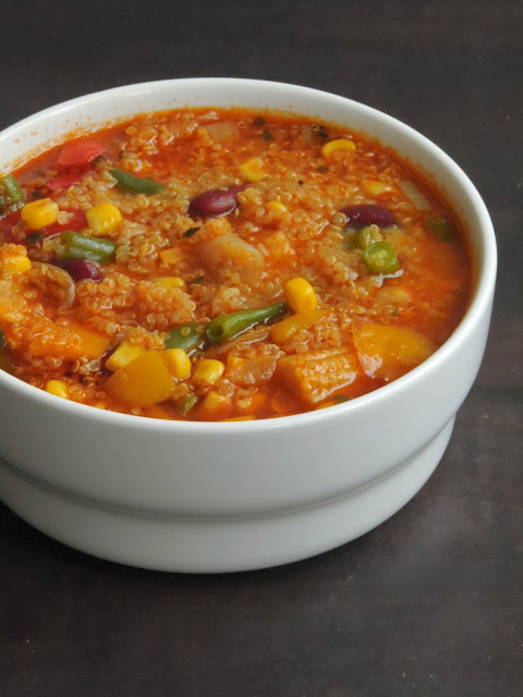 Vegetables & Kidney Beans Quinoa Soup