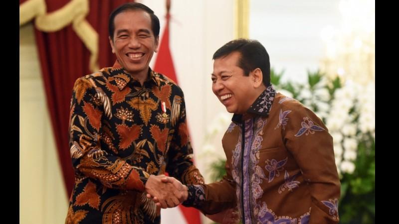 Presiden Jokowi saat bertemu Setya Novanto di Istana