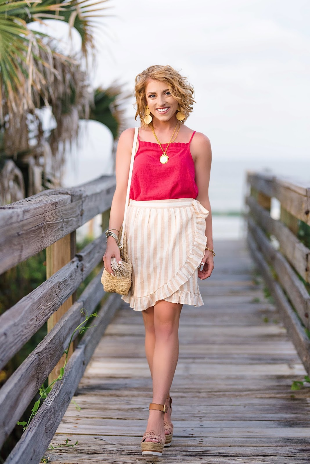 Ivory and White Ruffle Wrap Skirt - Something Delightful Blog
