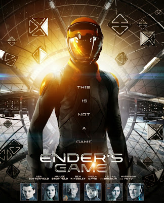 Poster Of Ender's Game (2013) In Hindi English Dual Audio 300MB Compressed Small Size Pc Movie Free Download Only At worldfree4u.com