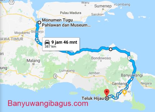 Surabaya-Teluk Hijau via jalur pantura.