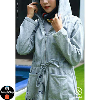 Hijacket Urbanashion SKY GREY [ABU] Size M L XL