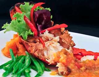 Cocina Ecuatoriana - Langostino de la bahía Pelikan Bay