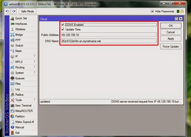 Fix Problem IP Cloud Access Router Remotely Via Internet