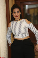 Manjusha in sleevelss crop top and black skirt at Darshakudu pre release ~  Exclusive Celebrities Galleries 021.JPG