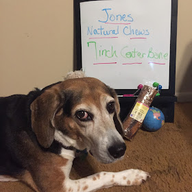 A Jones Natural Chews 7-inch bone is great for medium-large dogs and aggressive chewers.