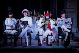 Richard Strauss: Ariadne auf Naxos - Elgan Llŷr Thomas, Alex Otterburn, Daniel Norman, Lancelot Nomura  - Opera Holland Park (Photo Robert Workman)
