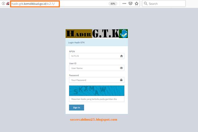 link akses halaman DHGTK v.2.1.