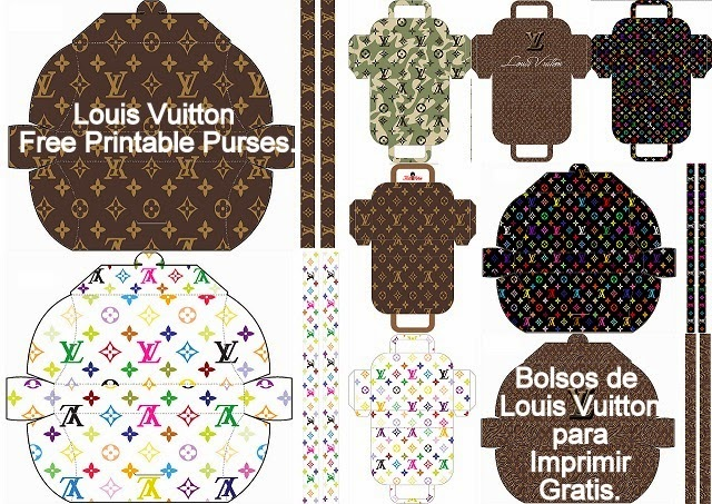 Louis Vuitton: Free Printable Paper Purses