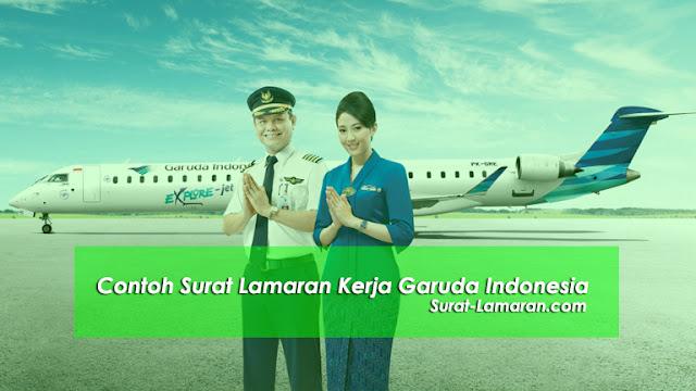 Contoh Surat Lamaran Kerja Garuda Indonesia