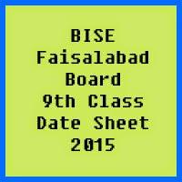 9th Class Date Sheet 2017 BISE Faisalabad Board