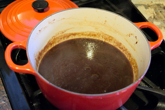 The finished bbq sauce.