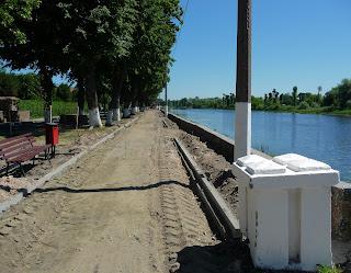Пінськ. Піна. Реконструкція набережної в 2018 році