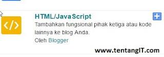 Gadget HTML/JavaScript tentangit.com